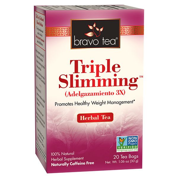 Triple slimming tea by Bravo supports healthy weight in 3 ways!
